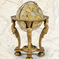 49. an 18-inch coronelli globe, later sphere and stand, [cartouche dated 1696]