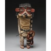 2. a hopi polychrome wood kachina doll