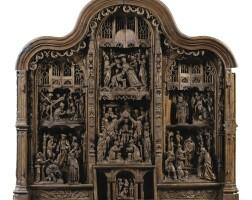 28. southern netherlandish, brabant,circa 1530altarpiecewith scenes from the life of saint lambert |