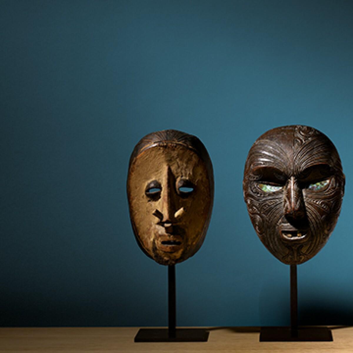 oceanic statue tribal masks fine