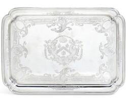 111. a george ii silver salver, paul de lamerie, london, 1732 |