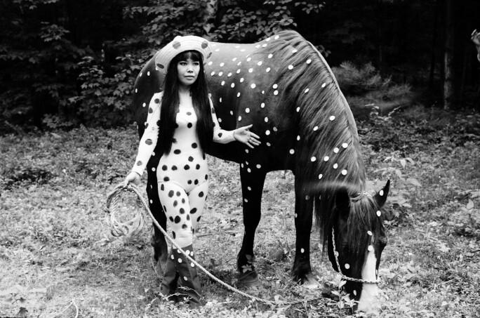 Yayoi Kusama, Horse Play, Woodstock, 1967.