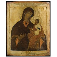 410. the tikhvin mother of god, possibly moscow, first half of 16th century
