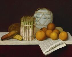75. william michael harnett | fruit and asparagus