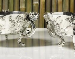 503. a pair of chinese export silver bowls, wang hing, hong kong, circa 1900 |