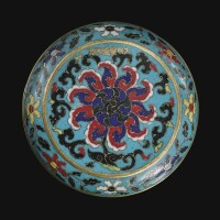 112. a superb and extremely rare cloisonne enamel box and cover xuande marks and period |