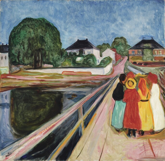 Edvard Munch, Pikene På Broen (Girls On The Bridge), 1902.