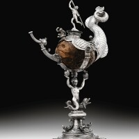 11. a coveredcoconut cup with silver mounts, the mounts amsterdam,1607 | a coveredcoconut cup with silver mounts, the mounts amsterdam,1607