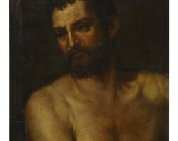 45. italian school, 18th / 19th century | portrait of a male nude, bust length