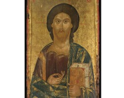 411. christ pantocrator, northern greece, possibly 13th or 14th century with later restoration