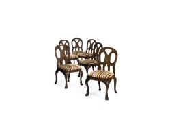 179. a set of six chinese export rosewood dining chairs circa 1740