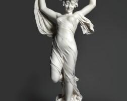 435. cesare lapini (1848 - after 1893)italian, florence | odalisca