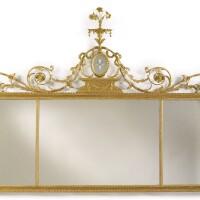3. a george iii giltwood overmantel mirror, circa 1785