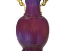 1. a louis xvi style ormolu-mounted chinese flambé-glazed porcelain vase 19th century