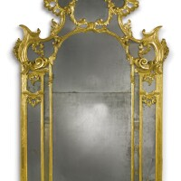 21. a pair of north italian late baroque carved giltwood mirrors lombardy,probably milan, mid-18th century