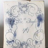 27. bovey traceysalt-glazed stoneware 'scratch blue' tea canister 1767