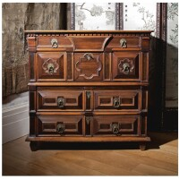 18. a charles ii oak, snakewood, fruitwood and laburnum chest of drawers late 17th century