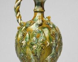 6. a magnificent sancai-glazed ewer tang dynasty