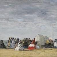9. 歐仁·布丹 | 《海灘上穿裙襯的女子》
