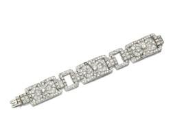 243. diamond bracelet, 1930s