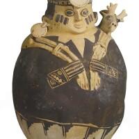 5. chancayfigural vessel of a hunter, central coast ca. a.d. 1300-1500