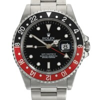 8. rolex | gmt master ii, reference 16710stainless steel dual-time wristwatch with date and braceletcirca 1998
