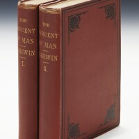 47. darwin, charles. the descent of man, 1871, 2 vol., first american edition (2 vol.)