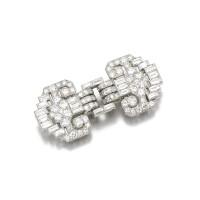 79. diamond double-clip brooch, cartier, 1930s