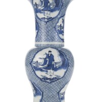 45. a chinese kangxi style blue and white baluster vase 19th century