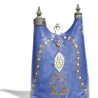 85. a rare iznik lavender-ground pottery matara, turkey, late 16th century