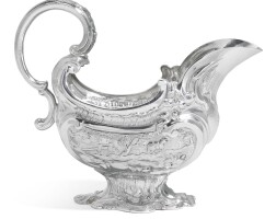 109. a george ii silver cream or sauce boat, lawrence johnson, london, 1751 |