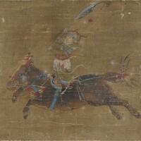 120. 清 《將士圖》 設色絹本 鏡框