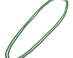 1635. 天然翡翠珠配鑽石項鏈