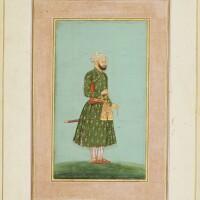15. a portrait of a nobleman, inscribed 'khaneh-zad khan ibn sa'id khan',mughal, circa third quarter 17th century