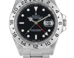 2007. 勞力士 | 16570型號「explorer ii」精鋼鍊帶腕錶備24小時及日期顯示,錶殼編號u634920,約1997年製。