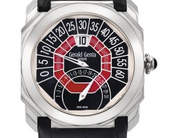 137. gérald genta   octo bi-retro, reference obr.y.60a white gold jumping hour wristwatch with retrograde minute and date,circa 2005