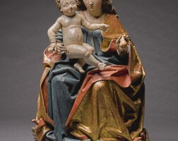 12. workshop of friedrich pacher (active circa 1474-after 1508)south tyrol, late 15th century | virgin and child enthroned