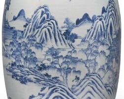 107. a large blue and white 'landscape' vase qing dynasty, 18th century