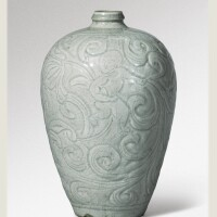 6. an extremely rare 'qingbai' carved 'boys' meiping southern song dynasty