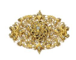 2. gold and diamond jewel, iberian, late 17th/ early 18th century