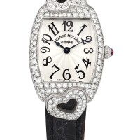 2027. franck muller   white gold and diamond-set wristwatchref 2250 qz hj case 218 cintrée curvex coeur circa 2006