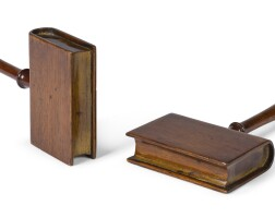 150. a pair ofearly victorian teaklibrary bookmarkers, circa 1840 |