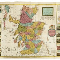 40. moll and munster, a collection of 3 engraved maps of scotland, ireland, and london, [1598-1714]