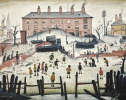 16. laurence stephen lowry, r.a.   acricket match