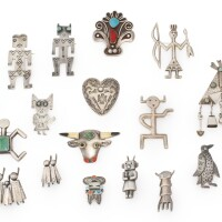 4. group of nineteen southwestern silver pins