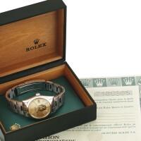 51. 勞力士(rolex) | 15000型號「oyster perpetual date」精鋼鍊帶腕錶備日期顯示,年份約1982。