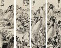 527. 蒲華 (1832-1911) | 溪山詩意