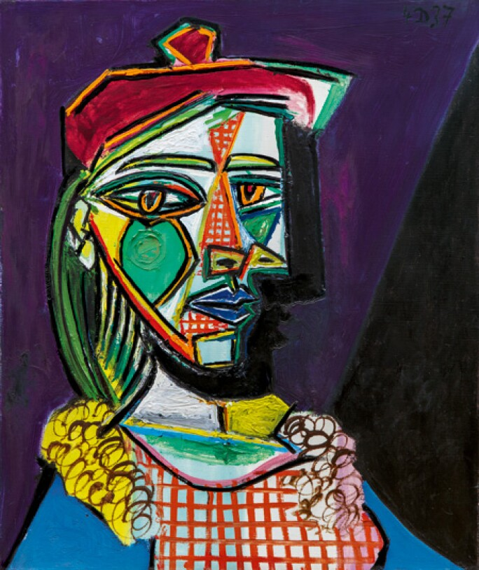 Powerful Portrait Of Picasso S Golden Muse Impressionist