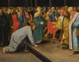 32. 小彼得·布呂赫爾 | 《基督與犯通姦罪的女子》