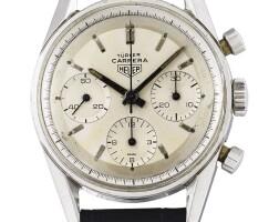 11. 豪雅(heuer) | 零售商為türler:2447t型號精鋼「carrera」計時腕錶,年份約1965。